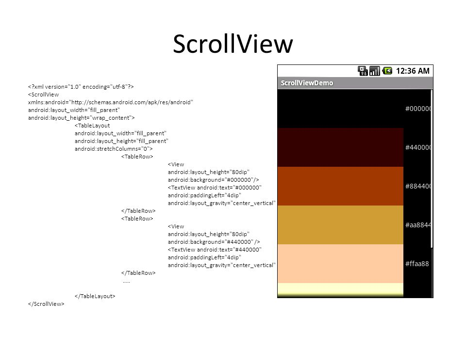 ScrollView