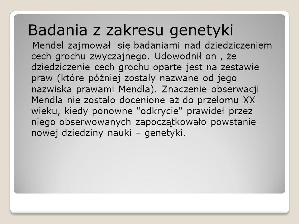 Badania z zakresu genetyki