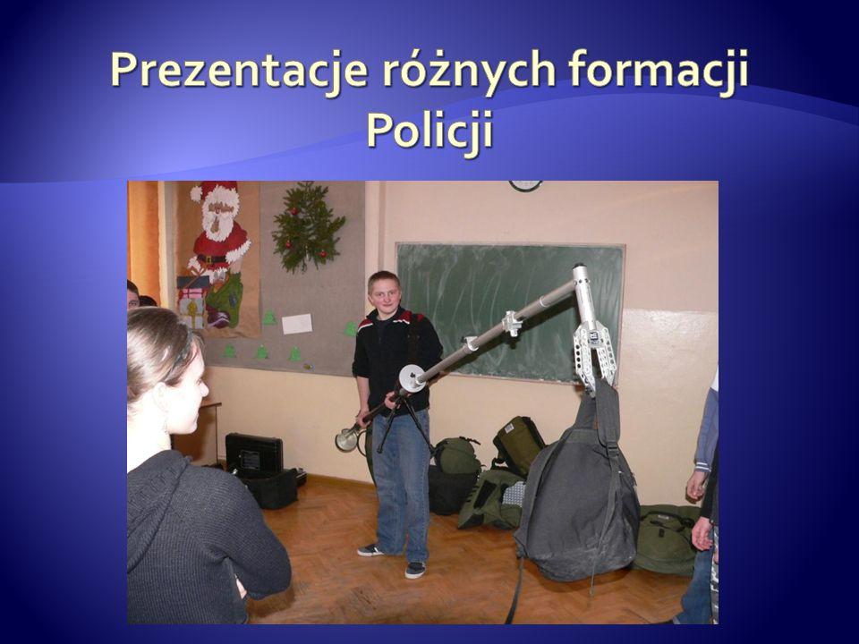 Prezentacje różnych formacji Policji