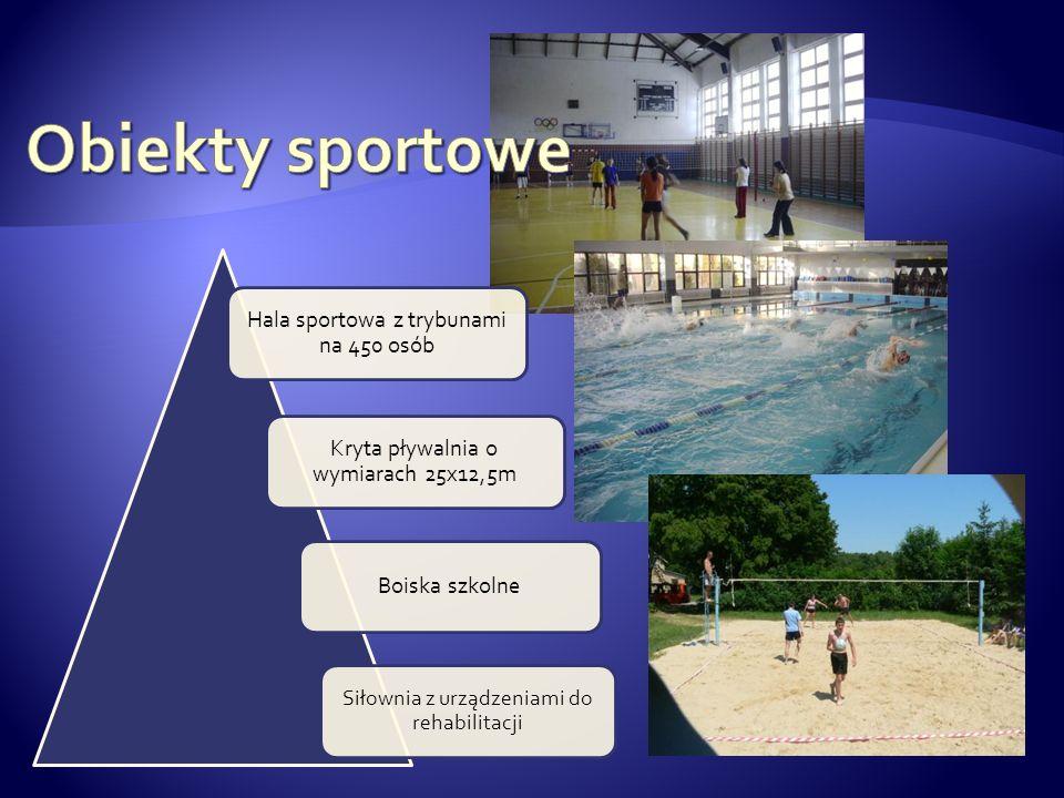Obiekty sportowe Hala sportowa z trybunami na 450 osób