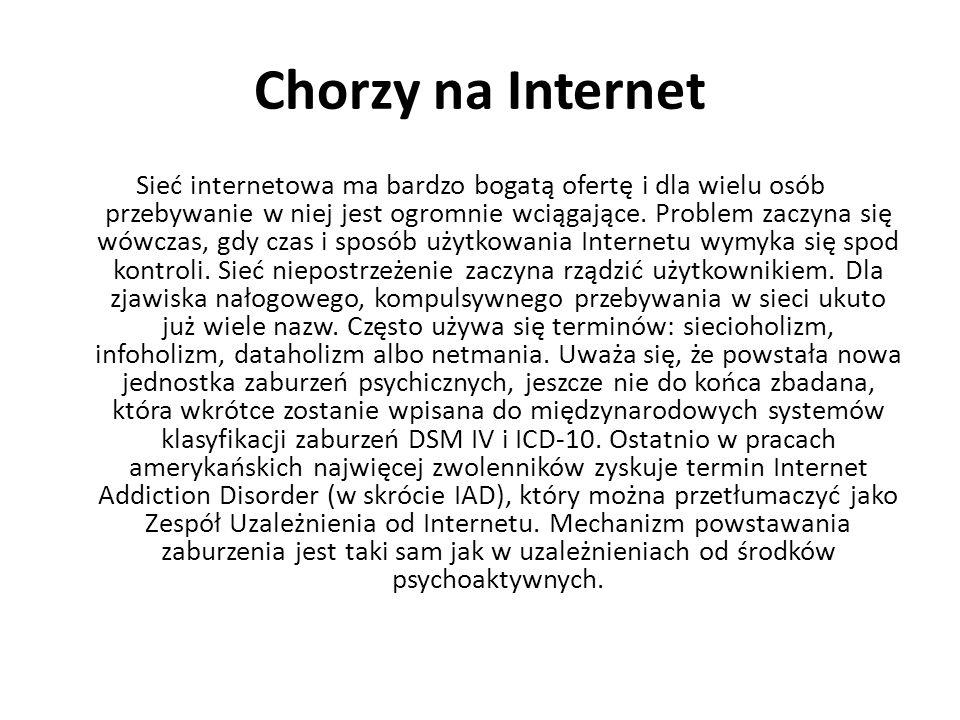 Chorzy na Internet