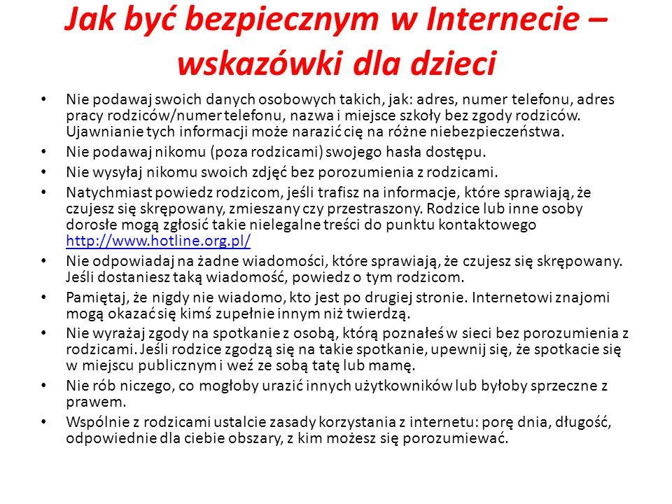 Jak być bezpiecznym w Internecie – wskazówki dla dzieci