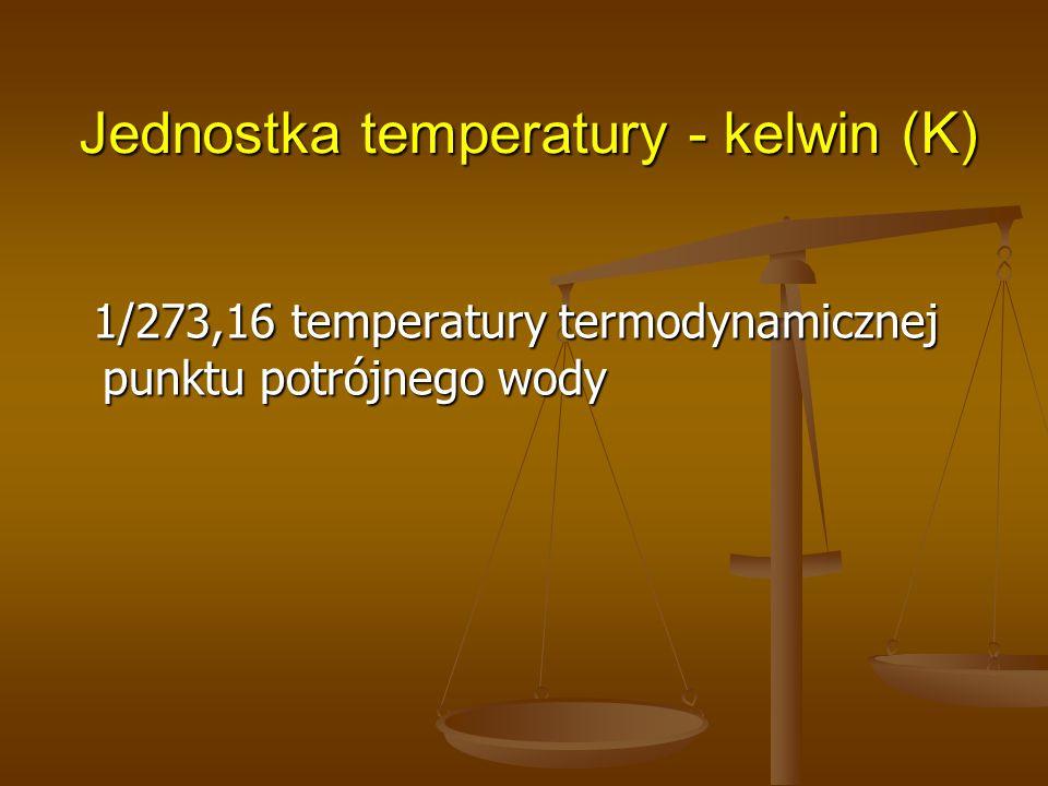 Jednostka temperatury - kelwin (K)