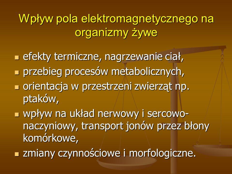 Wpływ pola elektromagnetycznego na organizmy żywe
