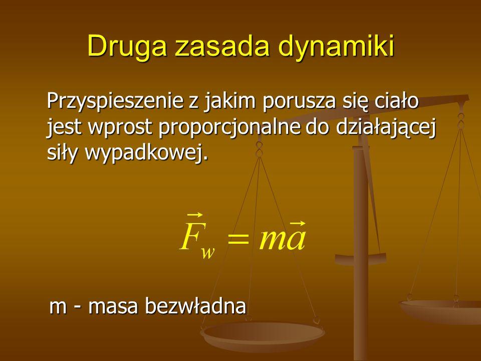 Druga zasada dynamiki m - masa bezwładna