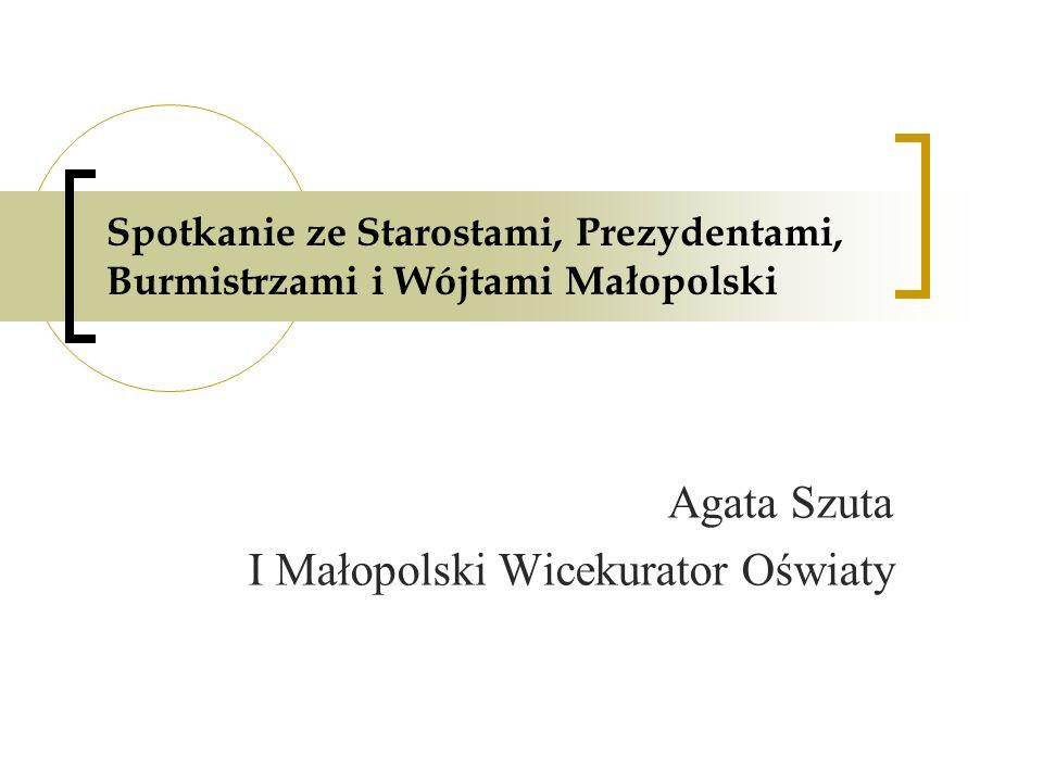Agata Szuta I Małopolski Wicekurator Oświaty