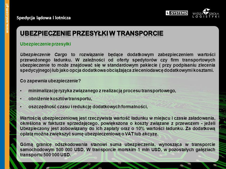 Ubezpieczenie przesyłki w transporcie