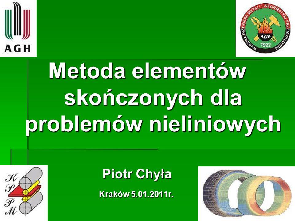 Metoda elementów skończonych dla problemów nieliniowych
