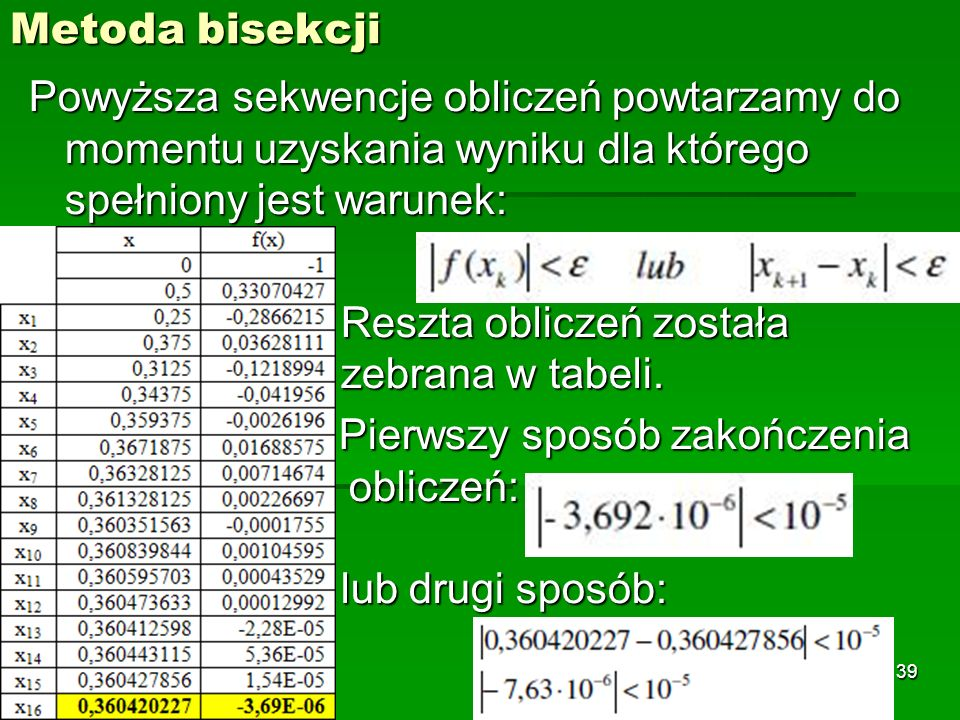 Metoda bisekcji