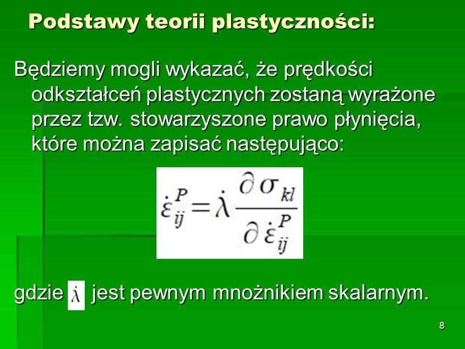 Podstawy teorii plastyczności: