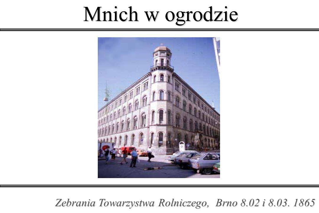 Mnich w ogrodzie Zebrania Towarzystwa Rolniczego, Brno 8.02 i 8.03. 1865