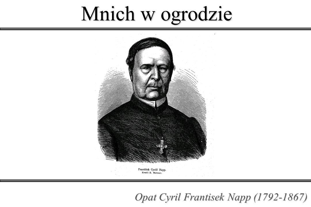 Mnich w ogrodzie Opat Cyril Frantisek Napp (1792-1867)