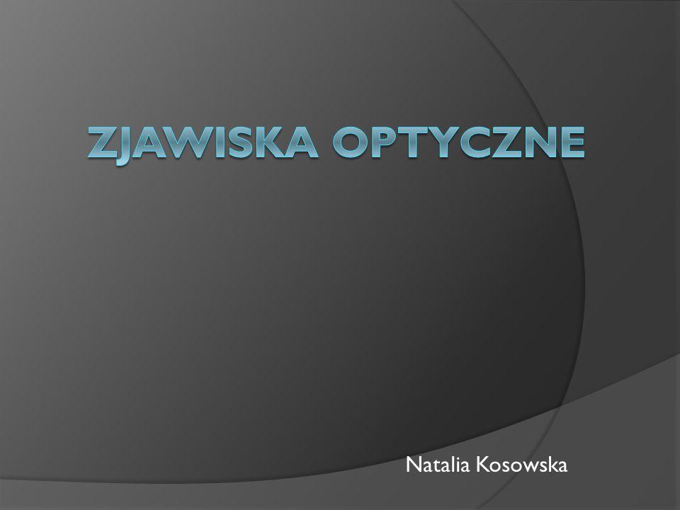 Zjawiska optyczne Natalia Kosowska