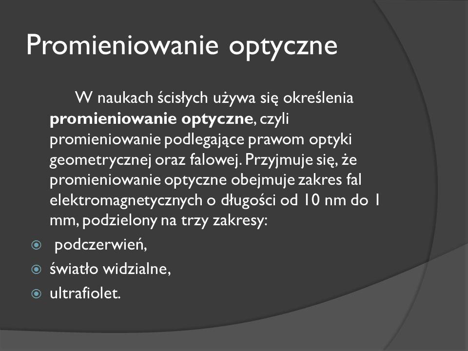 Promieniowanie optyczne