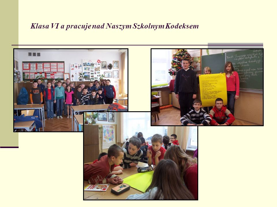 Klasa VI a pracuje nad Naszym Szkolnym Kodeksem