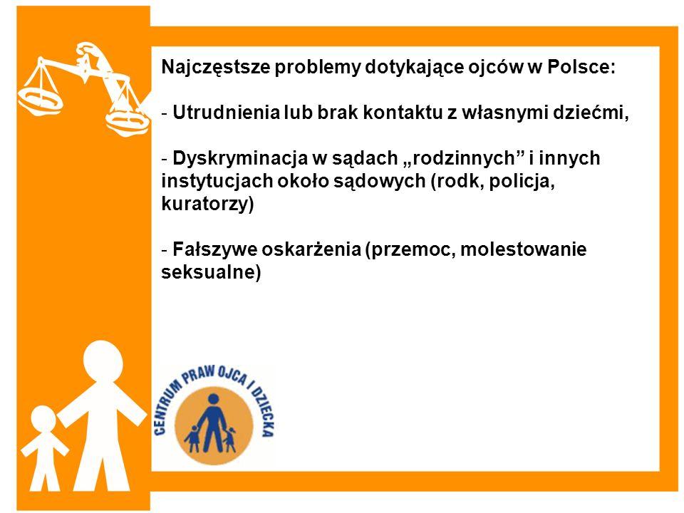 Najczęstsze problemy dotykające ojców w Polsce: