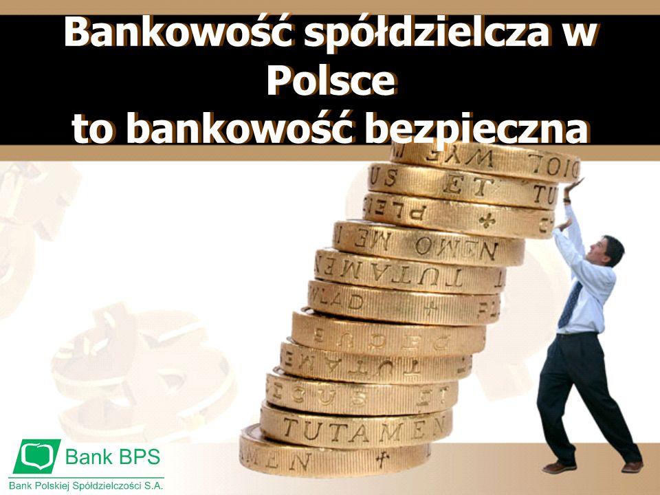 Bankowość spółdzielcza w Polsce to bankowość bezpieczna