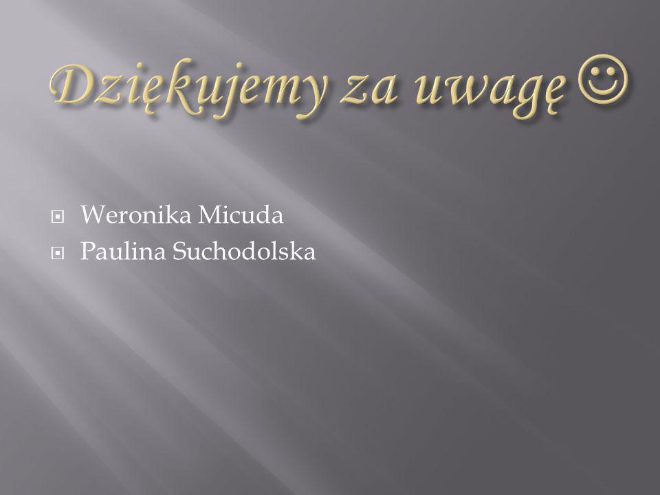 Dziękujemy za uwagę  Weronika Micuda Paulina Suchodolska