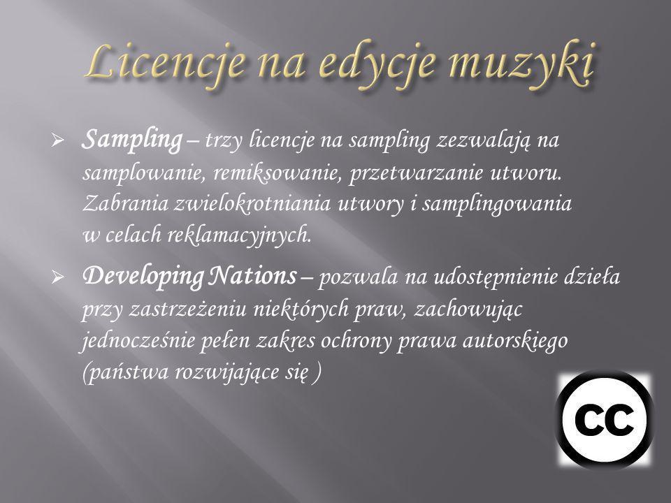 Licencje na edycje muzyki