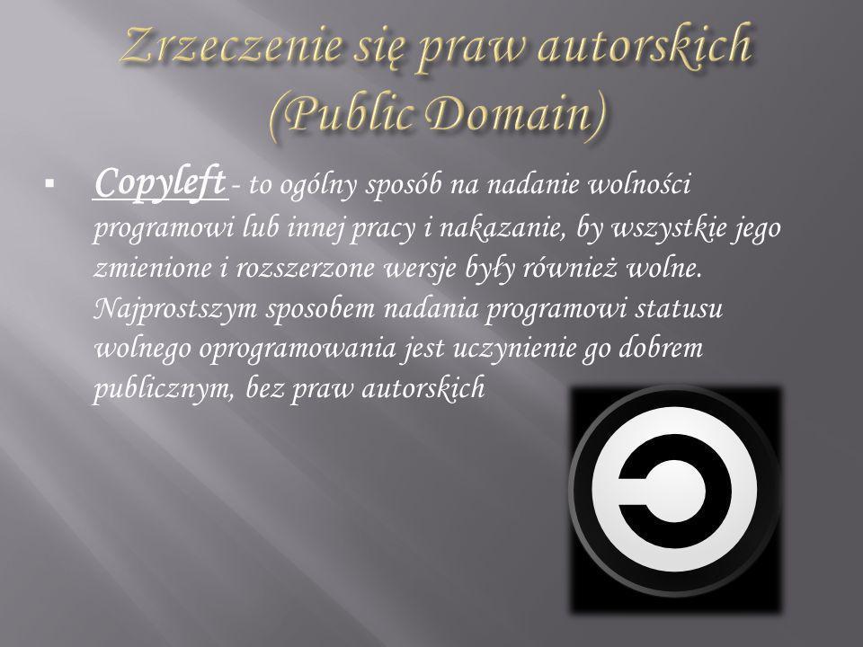 Zrzeczenie się praw autorskich (Public Domain)