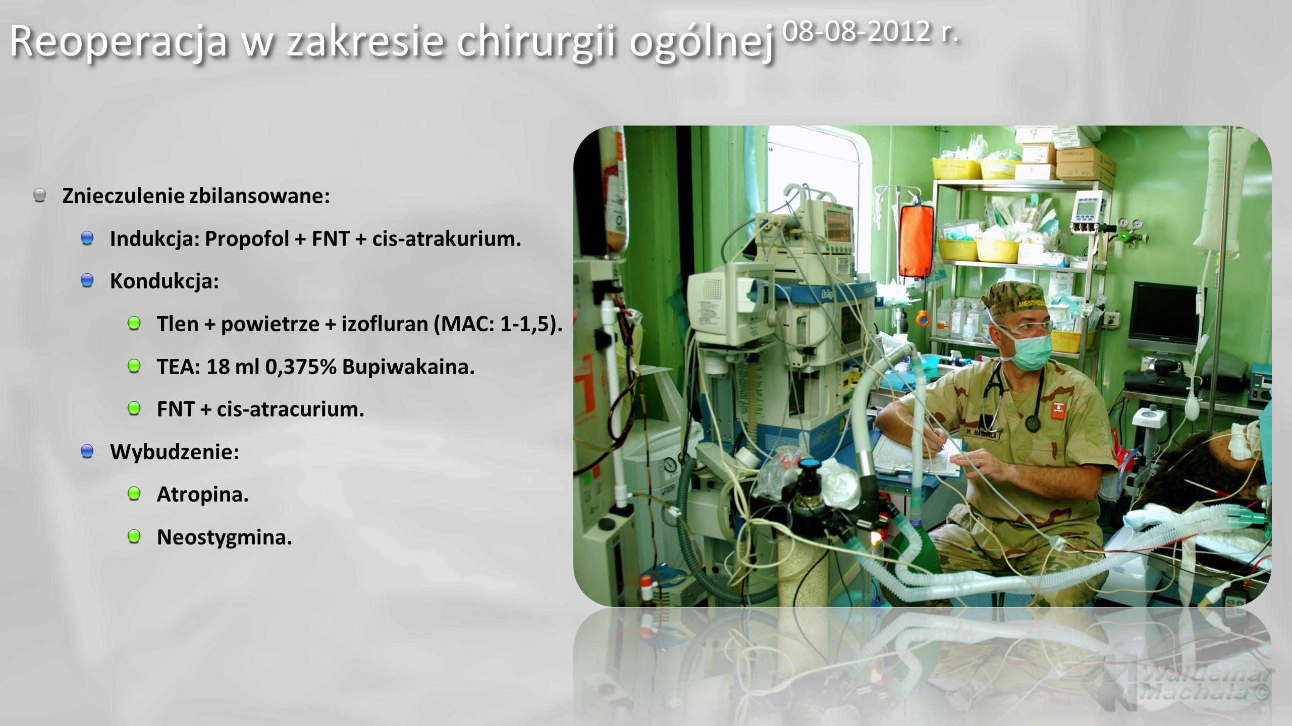 Reoperacja w zakresie chirurgii ogólnej 08-08-2012 r.