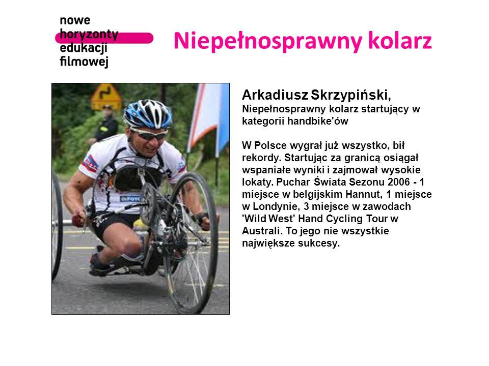 Niepełnosprawny kolarz