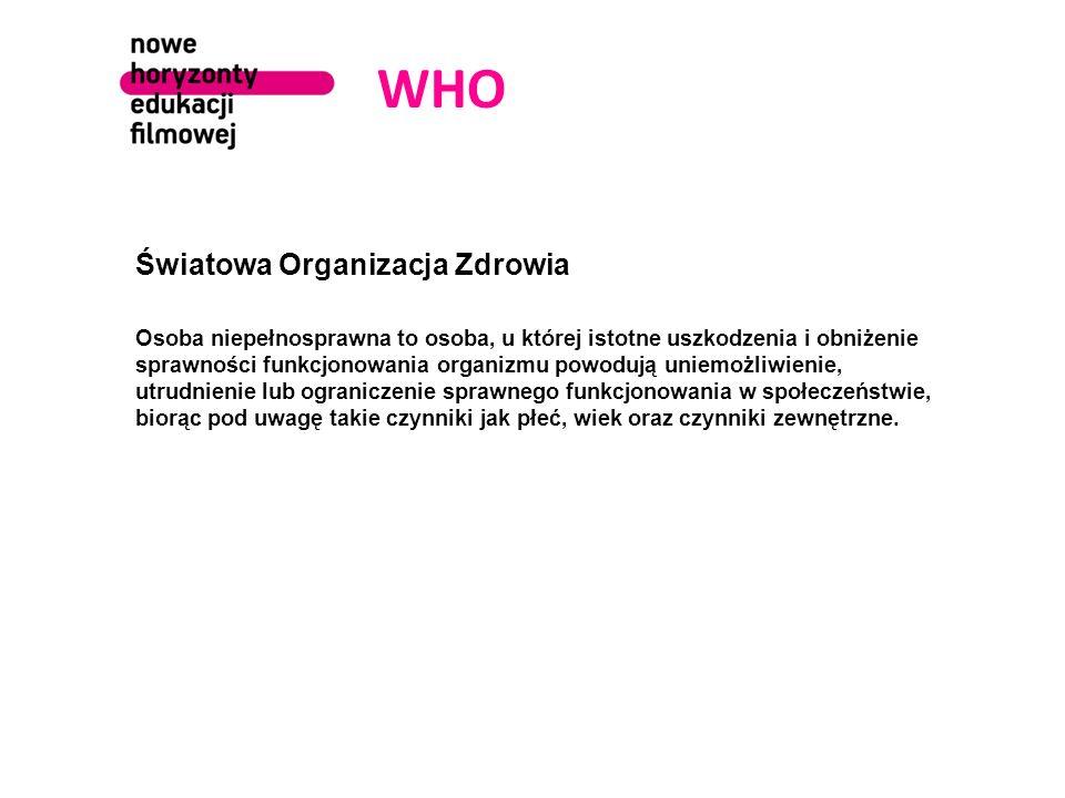 WHO Światowa Organizacja Zdrowia