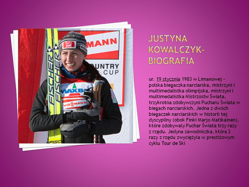 Justyna Kowalczyk- biografia