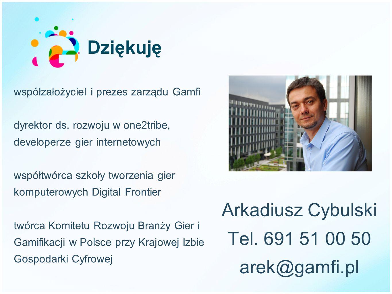 Arkadiusz Cybulski Tel. 691 51 00 50 arek@gamfi.pl
