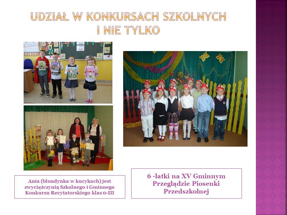 6 -latki na XV Gminnym Przeglądzie Piosenki Przedszkolnej