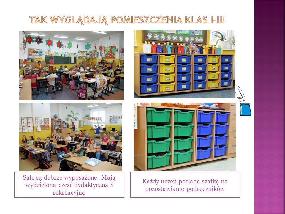 Każdy uczeń posiada szafkę na pozostawianie podręczników