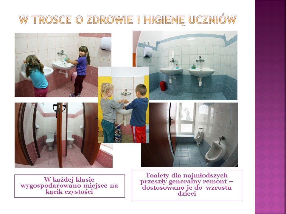 W każdej klasie wygospodarowano miejsce na kącik czystości