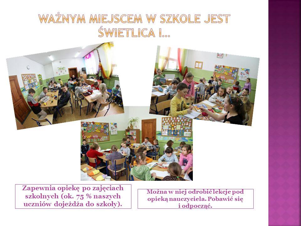 Zapewnia opiekę po zajęciach szkolnych (ok