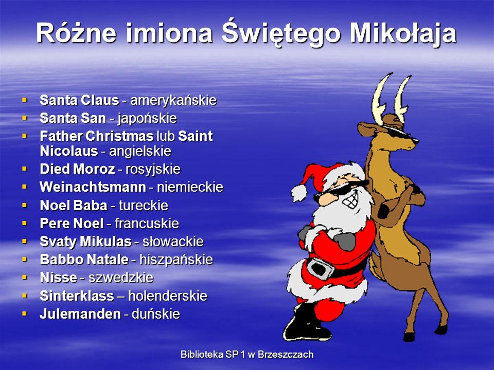 Różne imiona Świętego Mikołaja