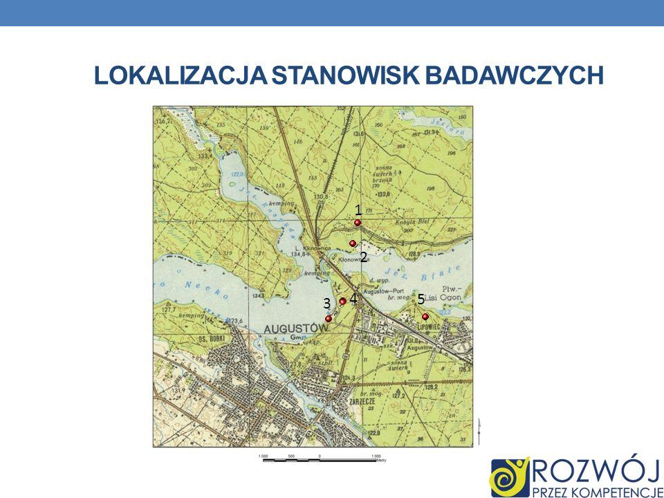 Lokalizacja stanowisk badawczych