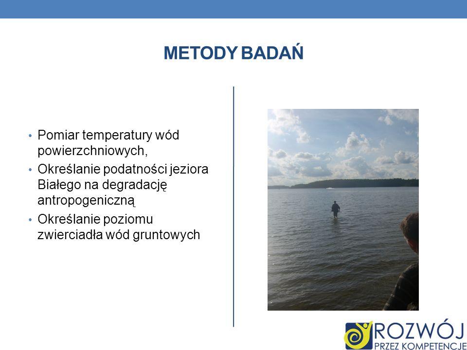Metody Badań Pomiar temperatury wód powierzchniowych,