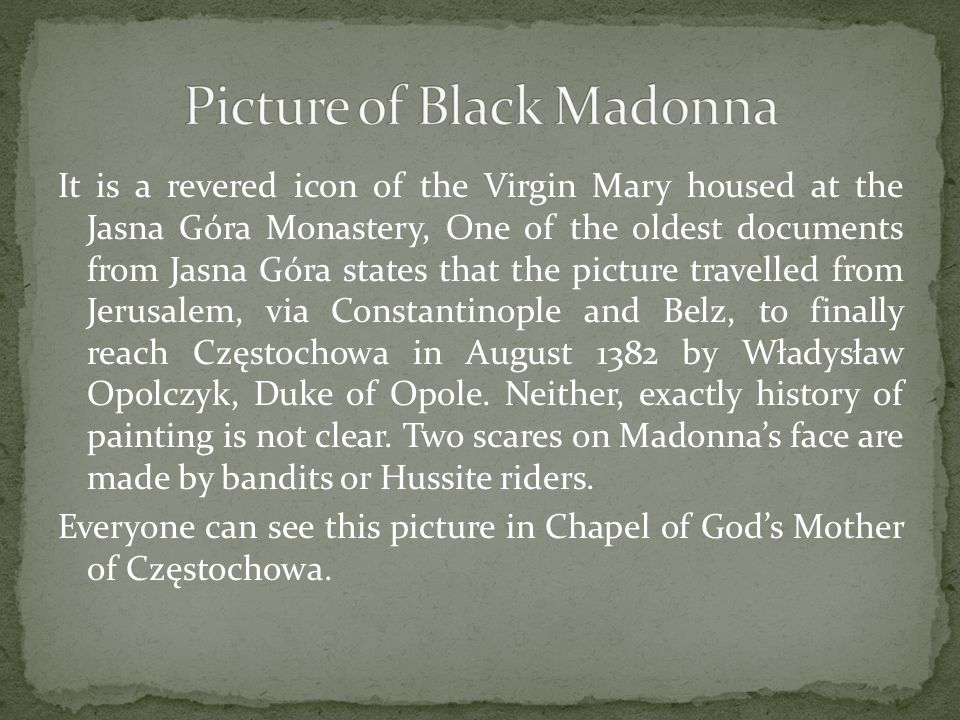 Picture of Black Madonna