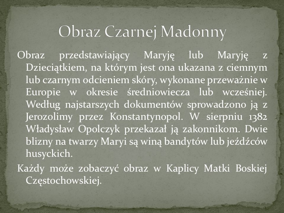 Obraz Czarnej Madonny