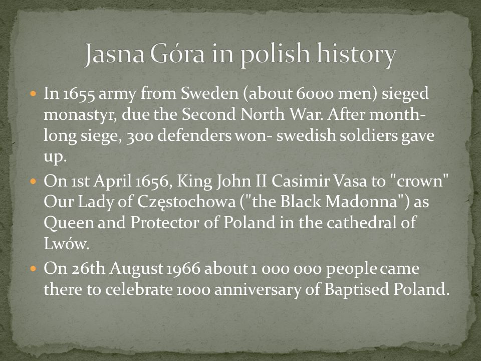 Jasna Góra in polish history