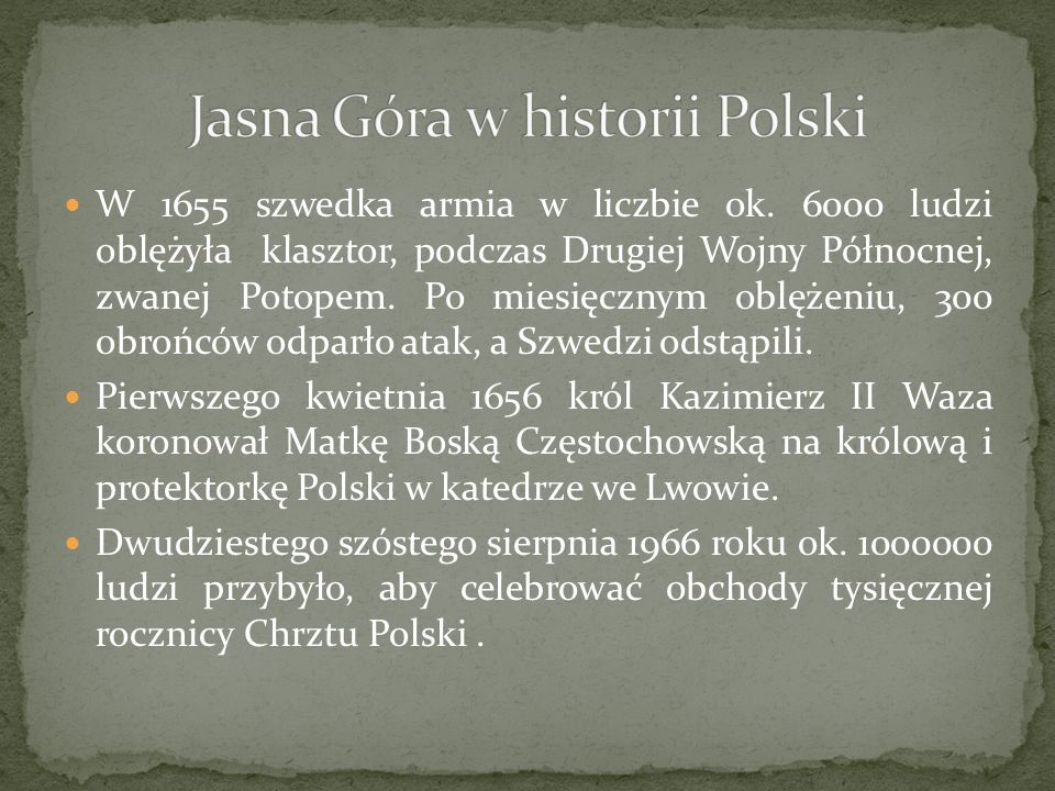Jasna Góra w historii Polski