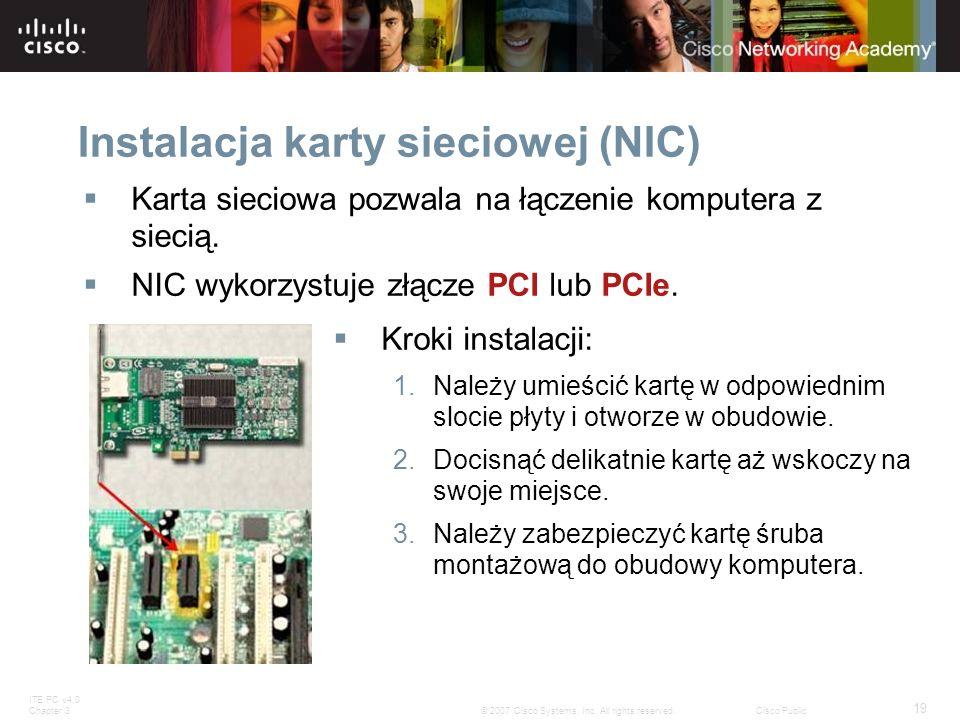 Instalacja karty sieciowej (NIC)
