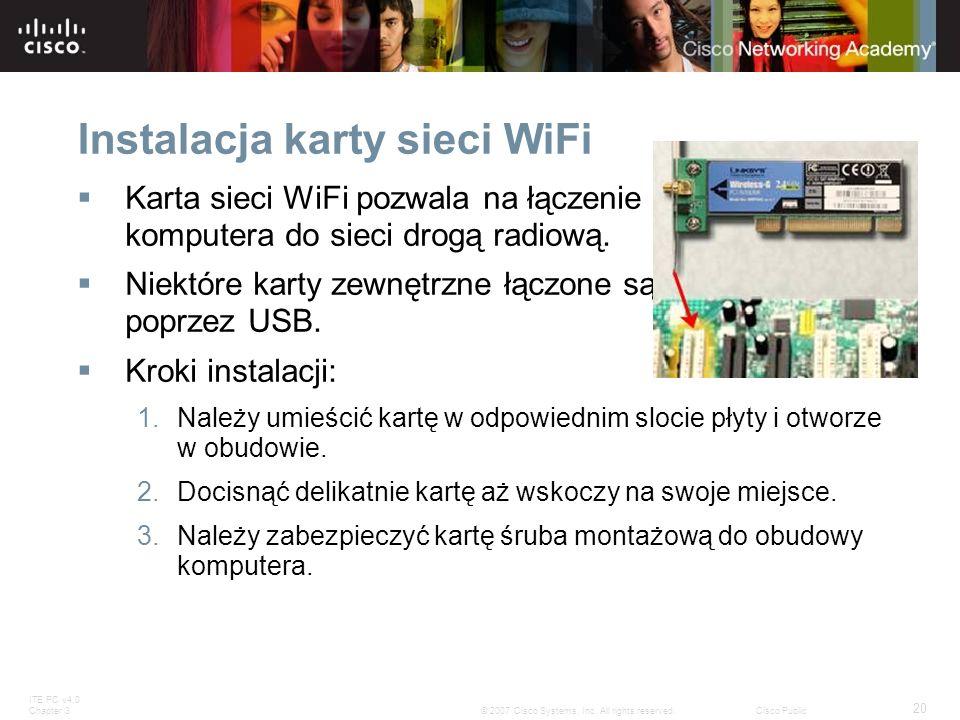 Instalacja karty sieci WiFi