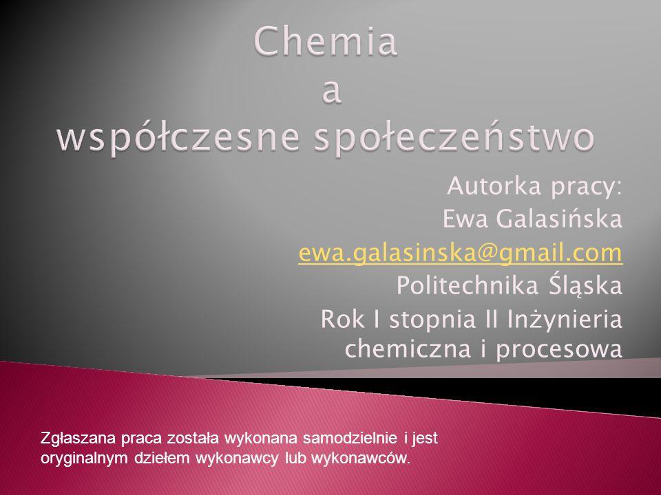 Chemia a współczesne społeczeństwo