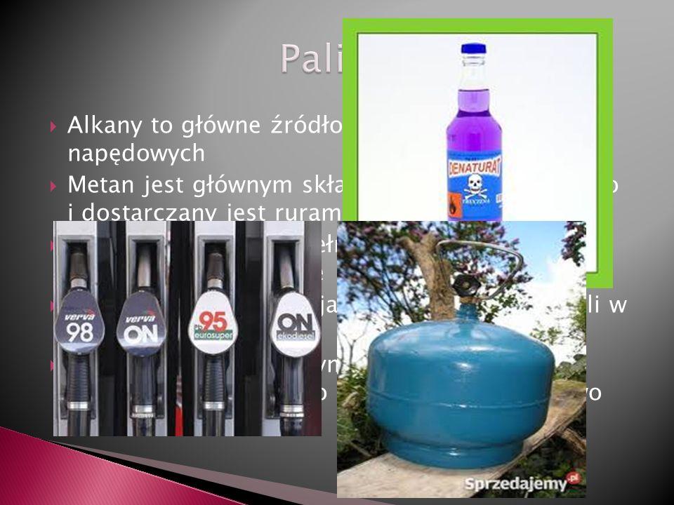 Paliwa Alkany to główne źródło benzyn i olei napędowych