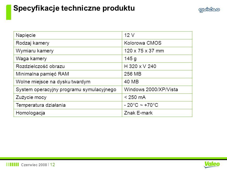 Specyfikacje techniczne produktu