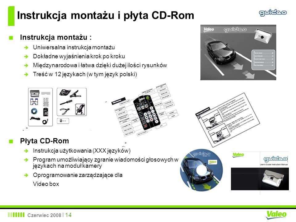 Instrukcja montażu i płyta CD-Rom