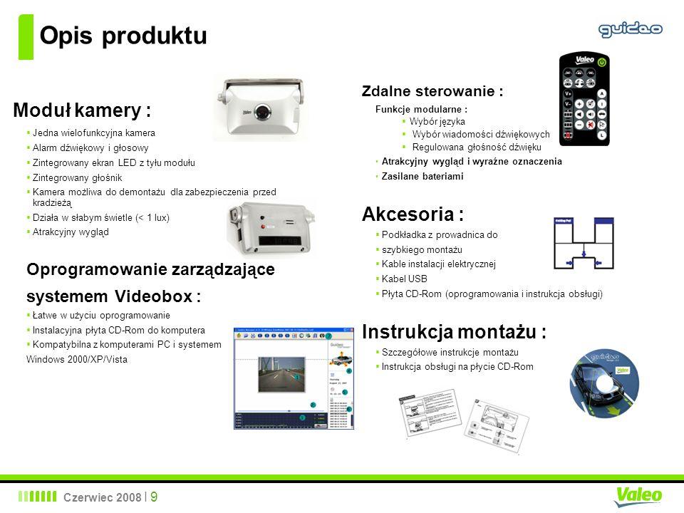 Opis produktu Moduł kamery : Akcesoria : Instrukcja montażu :