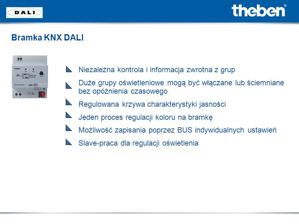 Bramka KNX DALI Niezależna kontrola i informacja zwrotna z grup