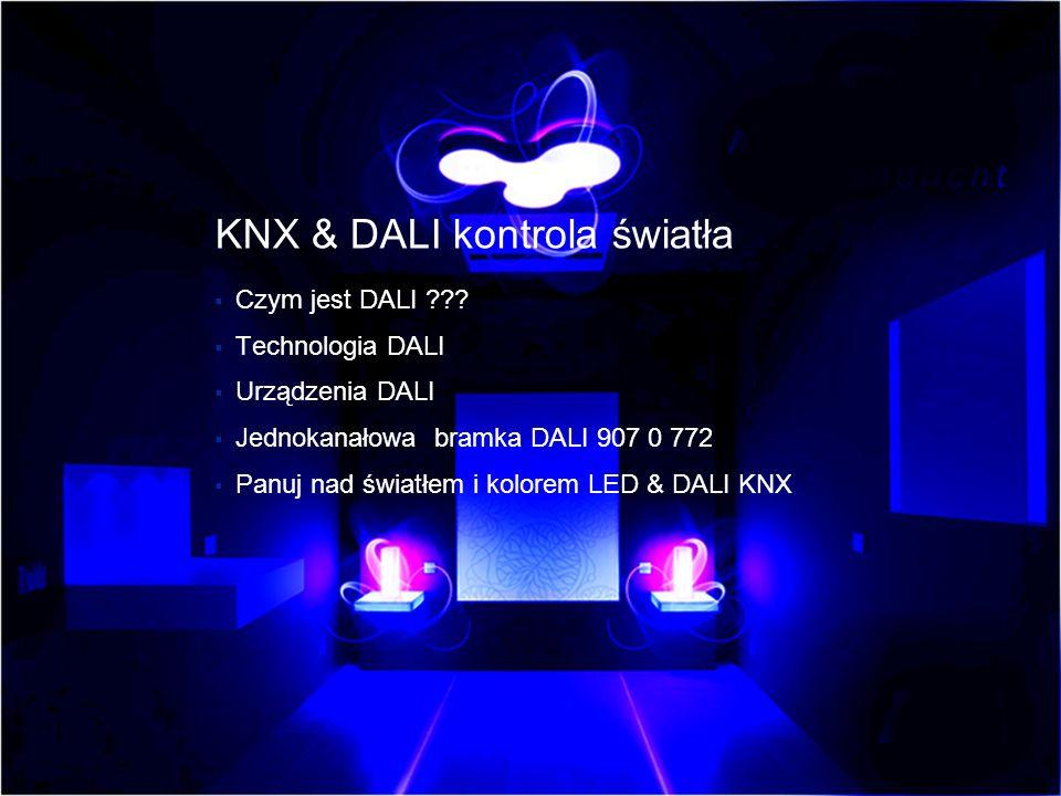 KNX & DALI kontrola światła