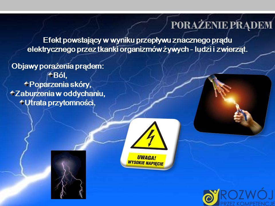 Objawy porażenia prądem: Zaburzenia w oddychaniu,